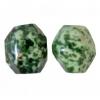 Semi-Precious 15x20mm Facetted Bead Green Spot Jade